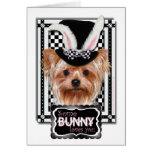 Easter - Some Bunny Loves You - Yorkie Greeting Card