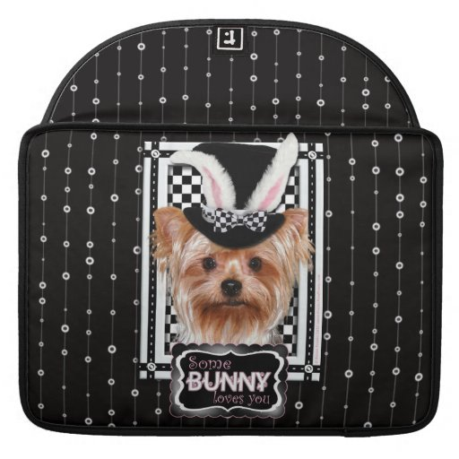 Easter - Some Bunny Loves You - Yorkie MacBook Pro Sleeve