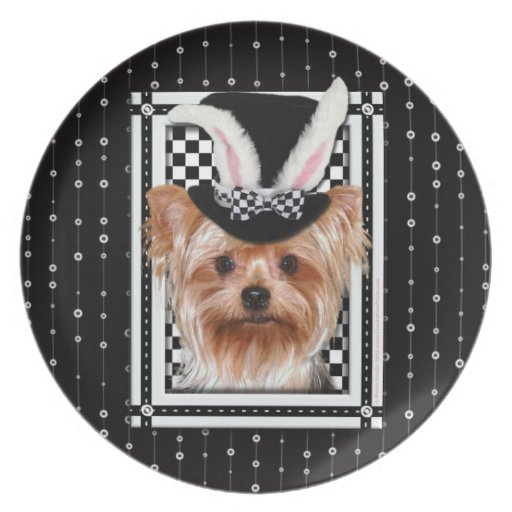 Easter - Some Bunny Loves You - Yorkie Dinner Plates