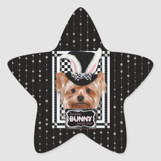 Easter - Some Bunny Loves You - Yorkie Star Sticker