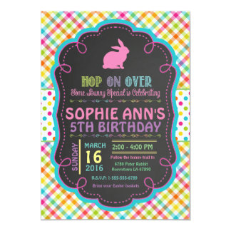 Easter Spring Birthday Party Invitation