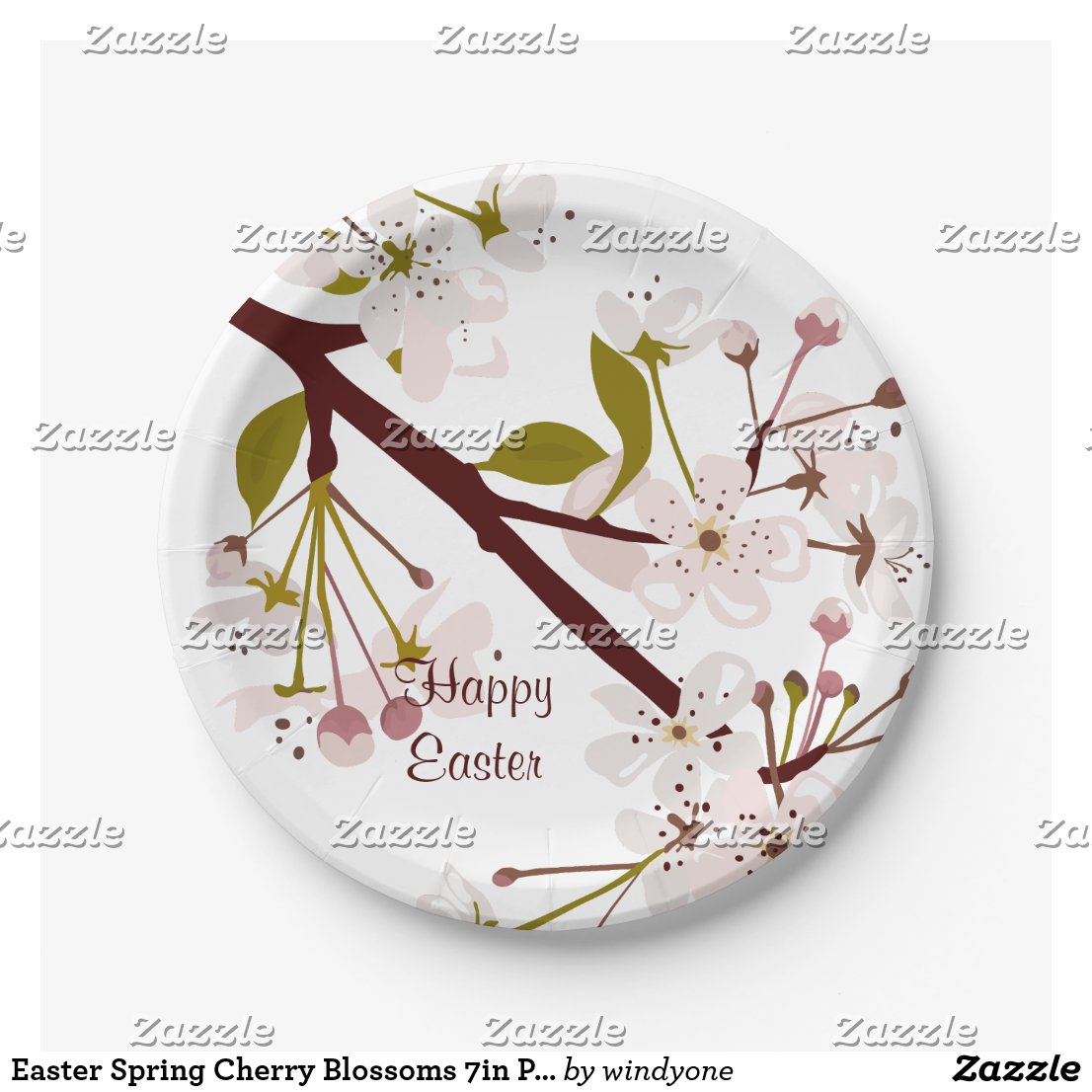 Easter Spring Cherry Blossoms 7in Party Plates