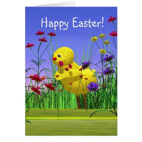 Easter Spring Chicken Card
