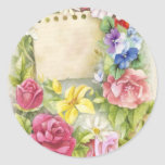 Easter, Spring Classic Round Sticker
