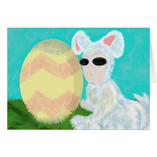 Easter/Spring Holiday Alien Card