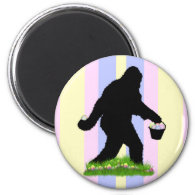 Easter Squatch 2 Inch Round Magnet