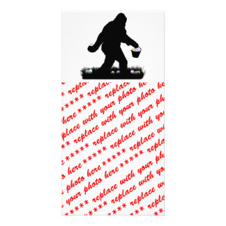 Easter Squatch Photo Card Template