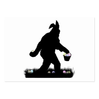 Easter Squatch with Bunny Ears Large Business Cards (Pack Of 100)
