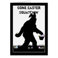 Easter Squatch with Bunny Ears Cards