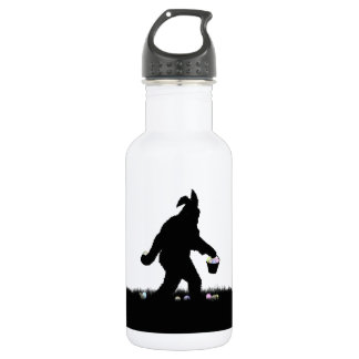 Easter Squatch with Bunny Ears 18oz Water Bottle