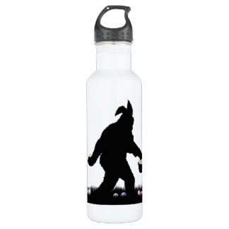 Easter Squatch with Bunny Ears 24oz Water Bottle