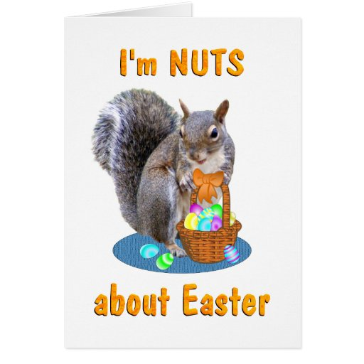 Easter Squirrel Card