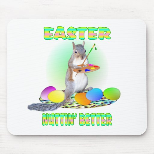 Easter Squirrel Mousepads