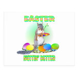 Easter Squirrel Post Card