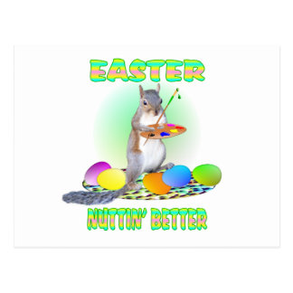 Easter Squirrel Postcard