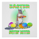 Easter Squirrel Posters