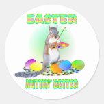 Easter Squirrel Round Sticker