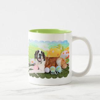Easter - St Bernard - Ozzie Two-Tone Coffee Mug