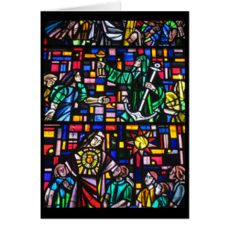 easter stain glass greeting card