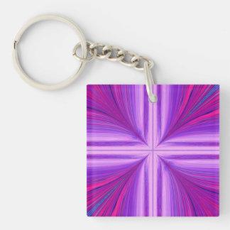 Easter Sunday Sunrise Resurrection Fractal Double-Sided Square Acrylic Keychain