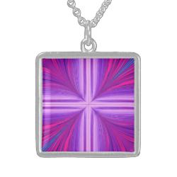 Easter Sunday Sunrise Resurrection Fractal Necklaces