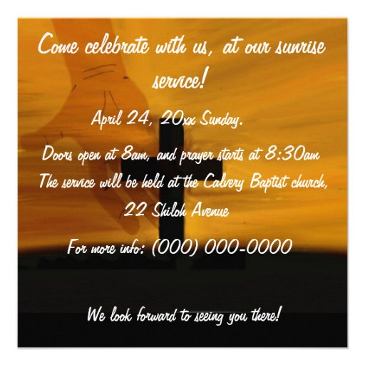 Easter sunrise service Invitation