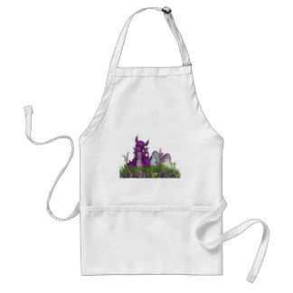 Easter Surprise Baby Dragon Adult Apron
