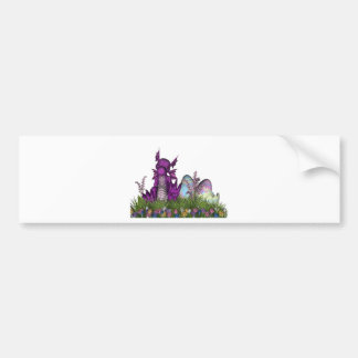 Easter Surprise Baby Dragon Car Bumper Sticker