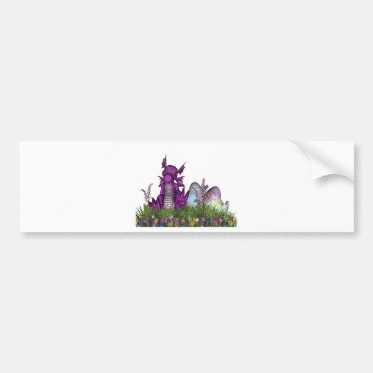 Easter Surprise Baby Dragon Bumper Sticker