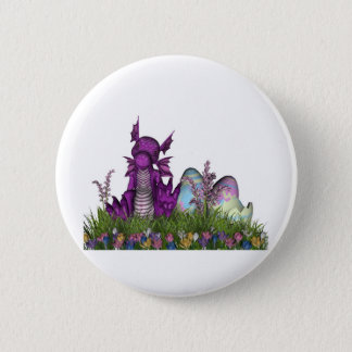 Easter Surprise Baby Dragon Button