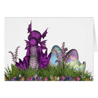 Easter Surprise Baby Dragon Greeting Card