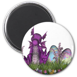 Easter Surprise Baby Dragon 2 Inch Round Magnet