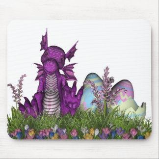 Easter Surprise Baby Dragon Mouse Pad