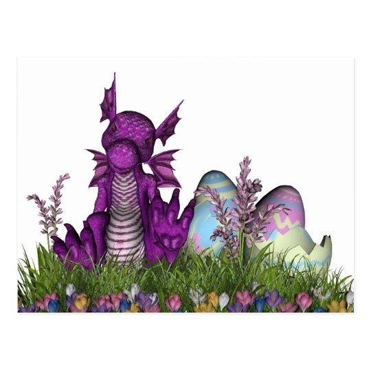 Easter Surprise Baby Dragon Postcard