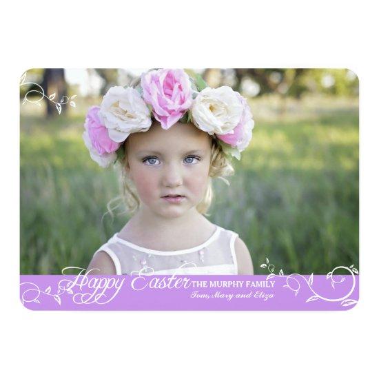 Easter Swirls Photo Card