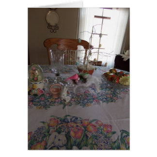 Easter Table Setting, Blessings Stationery Note Card