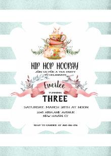 Easter Tea Party Birthday Invitation