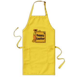 Easter Teddy Bear T shirts and Gifts Long Apron
