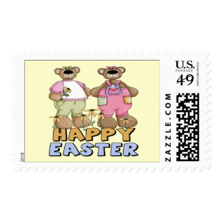 Easter Teddy Bear T shirts and Gifts Postage Stamp