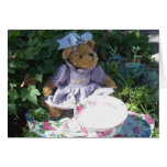 Easter Teddy Bear Tea Set Note Greeting Card Photo