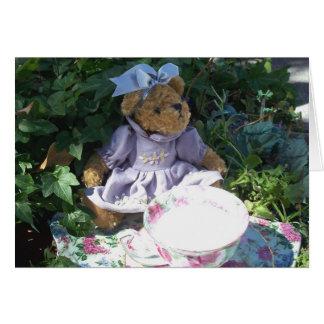 Easter Teddy Bear Tea Set Note Greeting Card Photo