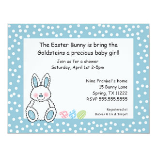 Easter theme baby shower invitation BOY