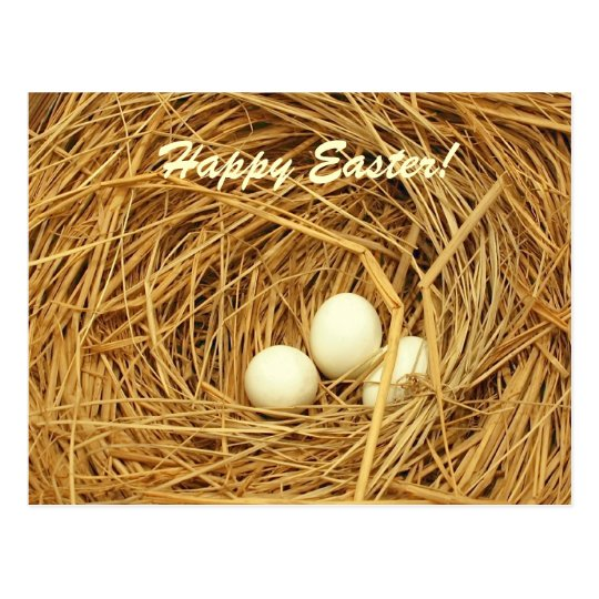 Easter Theme with Three Eggs Postcard