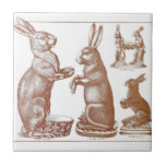 """Easter Tile Antique Chocolate Mold Bunny Catalogue<br><div class=""""desc"""">Gorgeous Image from an Antique Chocolate Mold Catalogue..Easter Bunnies... look for the matching tile in my store.. :o)</div>"""