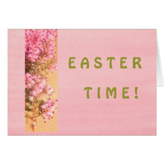 'EASTER TIME!'  CARD