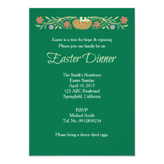 Easter Traditional Dinner Floral Card