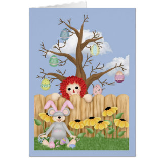 Easter Tree Greeting Card