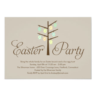 Easter Tree Easter Party Invitation