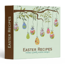 Easter Tree Made With Colorful Eggs 3 Ring Binder