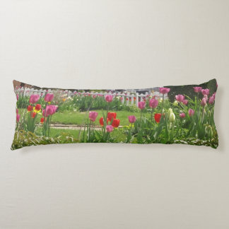 Easter Tulip Garden Body Pillow